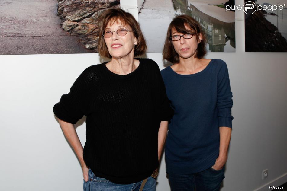 Jane Birkin et Kate Barry à Dinard, le 12 décembre 2013.