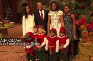 Barack et Michelle Obama : Noël avec leurs filles et de craquants lutins