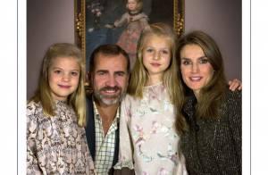 Letizia et Felipe d'Espagne : Au Prado avec Leonor et Sofia pour les voeux 2014