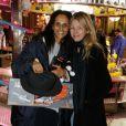 """Karine Silla et Sarah Lavoine à la soirée d'inauguration de """"Jours de Fêtes"""" au Grand Palais à Paris, le 19 décembre 2013"""