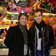 """Fabrice Santoro et Richard Gasquet à la soirée d'inauguration de """"Jours de Fêtes"""" au Grand Palais à Paris, le 19 décembre 2013"""