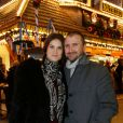 """Alexandre Brasseur et sa femme à la soirée d'inauguration de """"Jours de Fêtes"""" au Grand Palais à Paris, le 19 décembre 2013"""