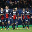 Le collectif du Paris Saint-Germain, au Parc des Princes (Paris) pour le match PSG-Lille, le dimanche 22 décembre 2013.