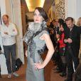 Exclusif - Défilé de la marque Almire avec le top model Satya Oblette. Paris, le 15 décembre 2013.