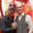 Exclusif - Cyril Magne et Bruno Romagne, créateurs de la marque Almire, lors de leur défilé à Paris. Le 15 décembre 2013.