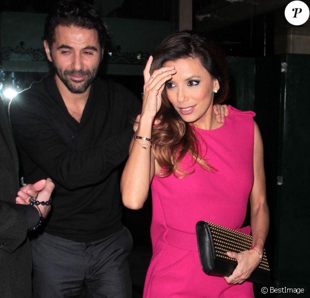 Eva Longoria est allée au restaurant Mr Chow avec son chéri José Antonio Baston, à Los Angeles, le 28 décembre 2013.