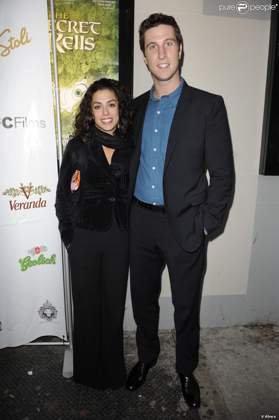 Pablo Schreiber et son épouse Jessica à New York, le 2 février 2010.