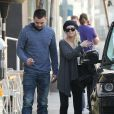 Exclusif - Christina Aguilera fait du shopping avec son amoureux Matthew Rutler à West Hollywood, le 8 janvier 2014.