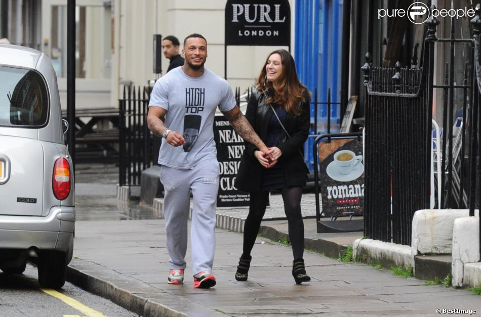 David McIntosh et Kelly Brook, de sortie à Londres. Le 15 janvier 2014.