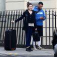 David McIntosh et Kelly Brook à Londres, le 13 janvier 2014.