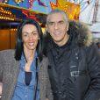 Samy Naceri et sa compagne Audrey lors de l'inauguration de la 50eme édition de la Foire du Trône à Paris le 29 mars 2013