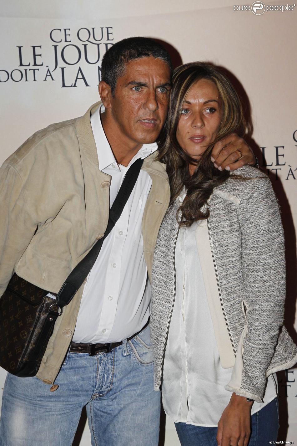Samy Naceri et sa compagne Audrey à Paris le 3 septembre 2012