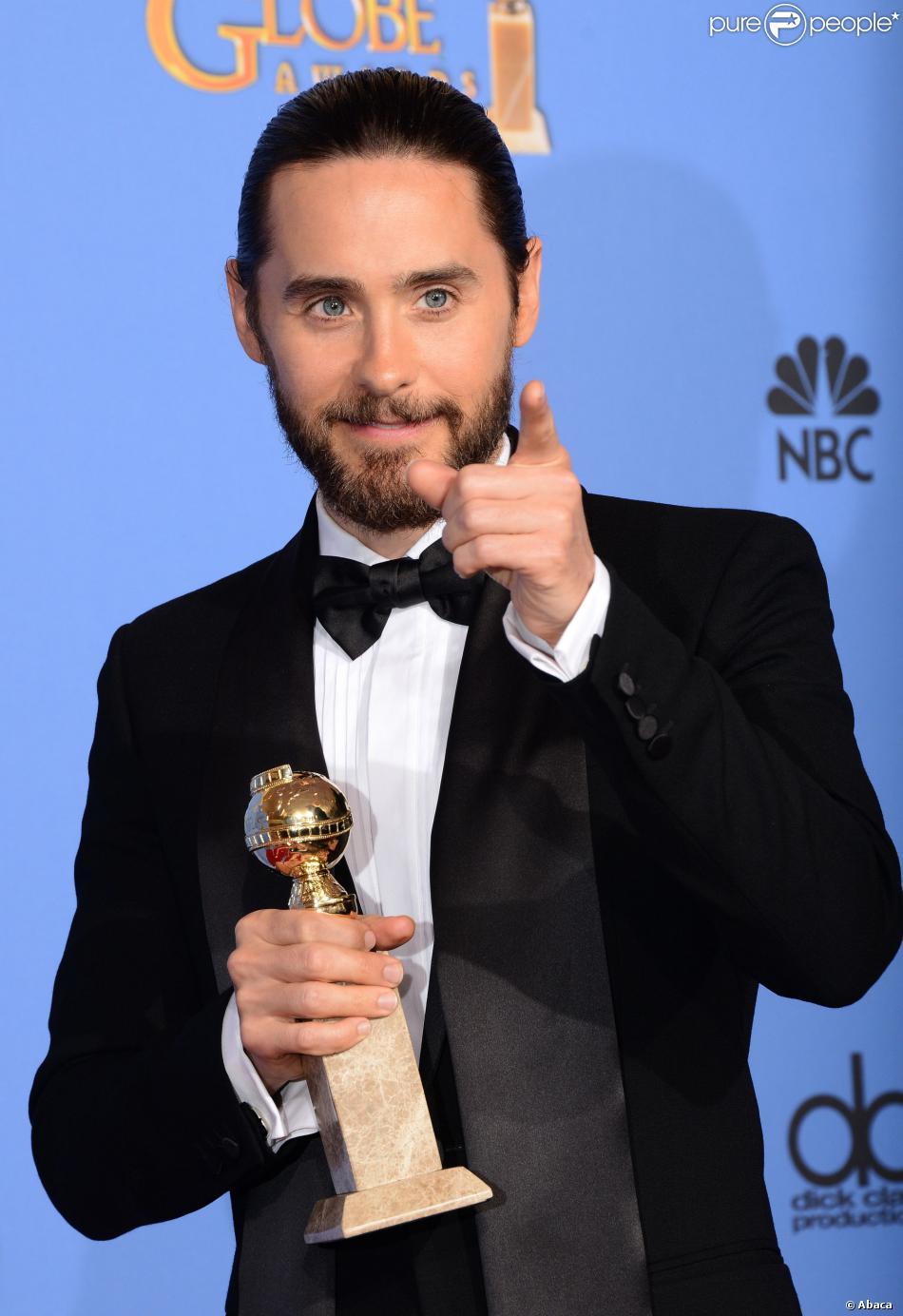 Jared Leto aux Golden Globe Awards le 12 janvier 2014.