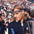 Björn Borg vainqueur du tournoi de Monte-Carlo le 4 avril 1980.
