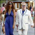 Elton John et son mari David Furnish à Portofino