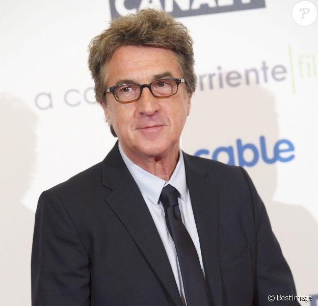 François Cluzet lors de la présentation du film En solitaire à Madrid le 10 décembre 2013
