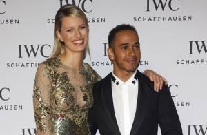 Karolina Kurkova : Sublime sirène au côté d'un Lewis Hamilton sous le charme
