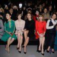 Olga Kurylenko, Paz Vega, Clotilde Courau Anne Marivin et Marie-Josee Croze assises au premier rang du Défilé Elie Saab Haute Couture printemps/été 2014 organisé à Paris le 22 janvier 2014