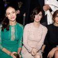Olga Kurylenko, Paz Vega et Clotilde Courau assistent au défilé Elie Saab Haute Couture printemps/été 2014 organisé à Paris le 22 janvier 2014