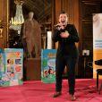 Le chanteur Olympe (The Voice saison 2) participe au gala de charité des Pièces Jaunes au Château de Compiègne, le 24 janvier 2014.