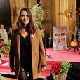 Joyce Jonathan participe au gala de charité des Pièces Jaunes au Château de Compiègne, le 24 janvier 2014.