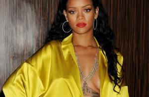 Rihanna, sexy et ultradécolletée : Torride, elle affole les soirées pré-Grammys