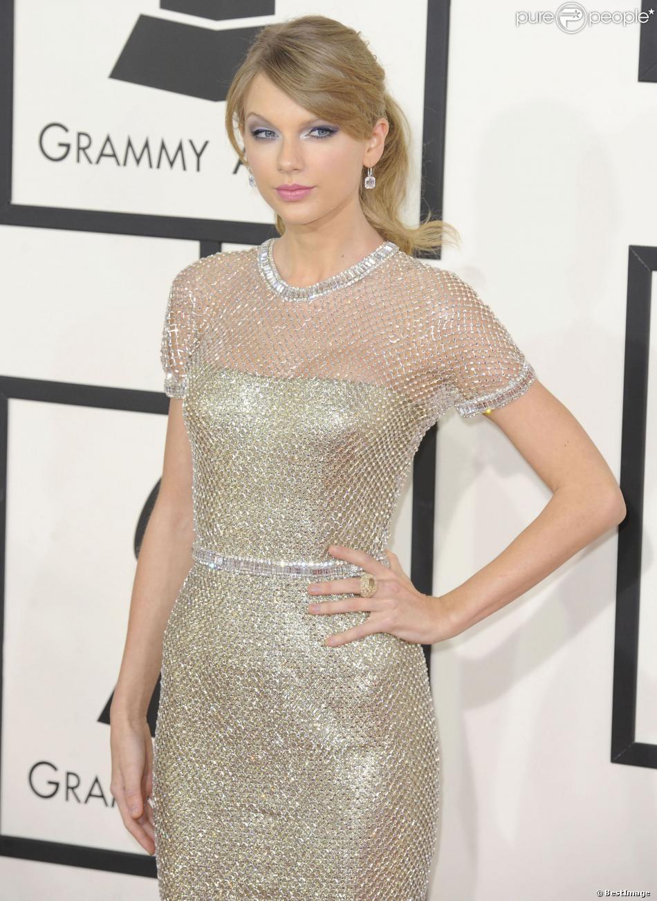 Taylor Swift lors de la 56e cérémonie des Grammy Awards à Los Angeles, le 26 janvier 2014.
