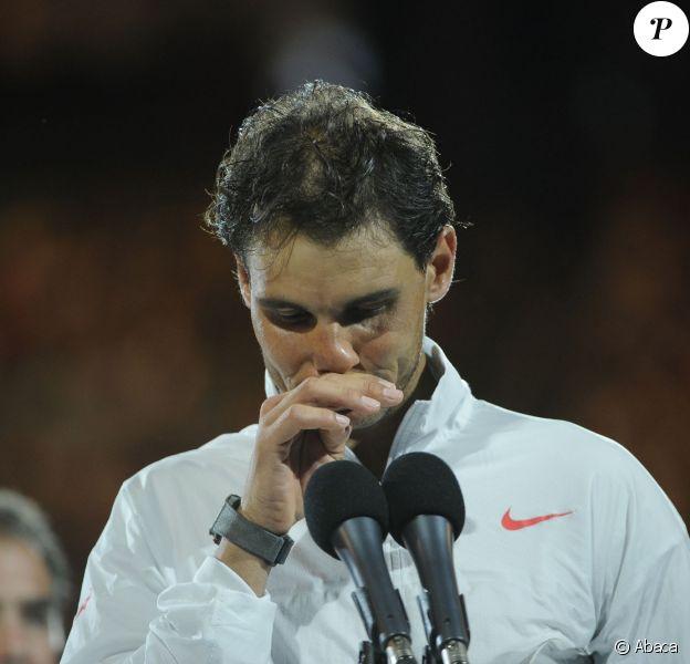 Rafael Nadal et Stanislas Wawrinka pendant la finale de l'Open d'Australie le 26 janvier 2014 à Melbourne, remportée par le second