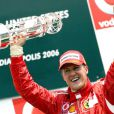 Michael Schumacher après sa victoire au Grand Prix des Etats-Unis, à Indianapolis, en juillet 2006