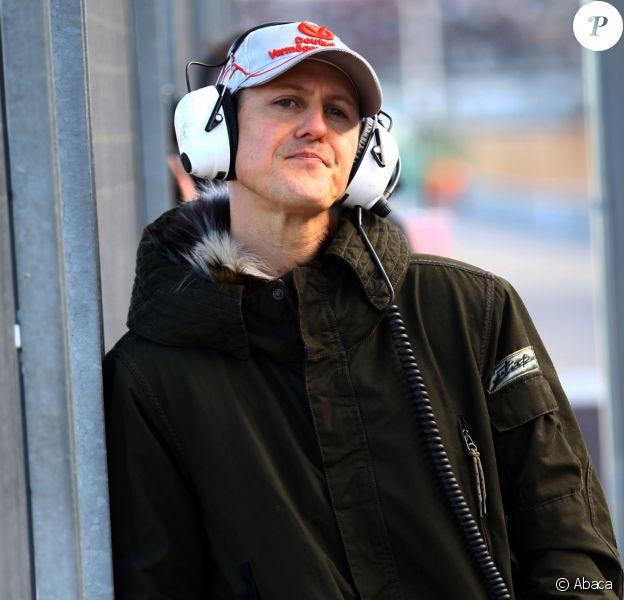 Michael Schumacher sur le circtui de Valence, le 2 février 2011
