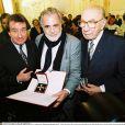 Retro - Maximilian Schell est décédé à 83 ans des suites d'une maladie grave et subite le mardi 28 janvier 2014. / PIANIST RUDOLF BUCHBINDER, MAXIMILIAN SCHELL & FRANZ ANTEL; MAXIMILIAN UND MARIA SCHELL ( Actor and Actress, Oscar winner) were honored with the Austrian Big Cross for Science and Art s ( Österreichischer Ehrenkreuz für Wissenschaft und Kunst I Klasse ). Laudator Thomas Gottschalk. Vienna, 09.12.2002,09/12/2002 -