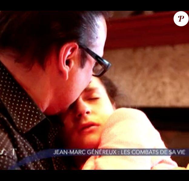 """Le danseur Jean-Marc Généreux, touchant au côté de sa fille Francesca dans l'émission """"Must Célébrités"""", diffusée le 1er février 2014."""