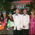 """MONSIEUR FAUTRIER DE LA FONDATION PRINCE ALBERT II, MICHEL PASTOR ET SA FEMME - LE PRINCE ALBERT ASSISTE A LA SOIREE """"LA NUIT DU PEROU"""" DANS LA SALLE DES ETOILES AU SPORTING CLUB DE MONACO 24/07/2010 - Monaco"""