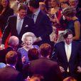 La princesse Beatrix des Pays-Bas recevait, en présence du couple royal et de toute la famille royale, le 1er février 2014 au Ahoy de Rotterdam, un vibrant hommage en marque de gratitude pour ses 33 ans de règne, de 1980 à son abdication le 30 avril 2013 au profit de son fils Willem-Alexander.