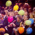 Ambiance de fête autour de l'ancienne reine. La princesse Beatrix des Pays-Bas recevait le 1er février 2014 au Ahoy de Rotterdam, en présence de son héritier le roi Willem-Alexander et de la reine Maxima ainsi que de l'ensemble de la famille royale, un vibrant hommage en marque de gratitude pour ses 33 ans de règne, de 1980 à son abdication le 30 avril 2013 au profit de son fils Willem-Alexander.