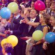 Le roi Willem-Alexander, la reine Maxima, le prince Constantijn et la princesse Laurentien s'éclatent ! La princesse Beatrix des Pays-Bas recevait le 1er février 2014 au Ahoy de Rotterdam, en présence de son héritier le roi Willem-Alexander et de la reine Maxima ainsi que de l'ensemble de la famille royale, un vibrant hommage en marque de gratitude pour ses 33 ans de règne, de 1980 à son abdication le 30 avril 2013 au profit de son fils Willem-Alexander.