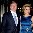 Le roi Willem-Alexander et la reine Maxima, très chic. La princesse Beatrix des Pays-Bas recevait le 1er février 2014 au Ahoy de Rotterdam, en présence de son héritier le roi Willem-Alexander et de la reine Maxima ainsi que de l'ensemble de la famille royale, un vibrant hommage en marque de gratitude pour ses 33 ans de règne, de 1980 à son abdication le 30 avril 2013 au profit de son fils Willem-Alexander.