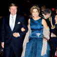 Le roi Willem-Alexander et la reine Maxima, très en beauté. La princesse Beatrix des Pays-Bas recevait le 1er février 2014 au Ahoy de Rotterdam, en présence de son héritier le roi Willem-Alexander et de la reine Maxima ainsi que de l'ensemble de la famille royale, un vibrant hommage en marque de gratitude pour ses 33 ans de règne, de 1980 à son abdication le 30 avril 2013 au profit de son fils Willem-Alexander.
