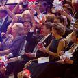 La princesse Beatrix, le premier ministre Mark Rutte, le roi Willem-Alexander, la reine Maxima et la princesse Laurentien en effervescence. La princesse Beatrix des Pays-Bas recevait le 1er février 2014 au Ahoy de Rotterdam, en présence de son héritier le roi Willem-Alexander et de la reine Maxima ainsi que de l'ensemble de la famille royale, un vibrant hommage en marque de gratitude pour ses 33 ans de règne, de 1980 à son abdication le 30 avril 2013 au profit de son fils Willem-Alexander.