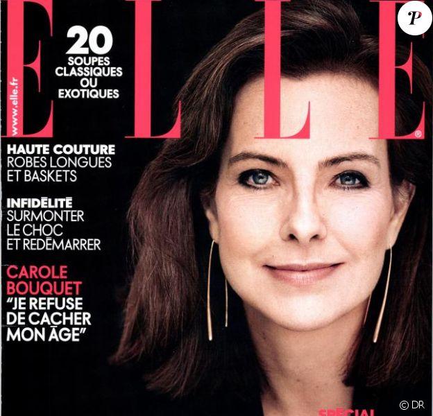 Carole Bouquet en couverture du magazine Elle du 31 janvier 2014