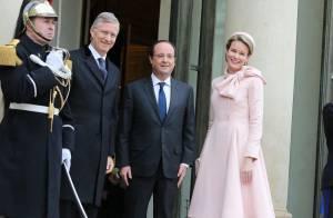 François Hollande : Le roi Philippe et la belle Mathilde de Belgique à l'Elysée