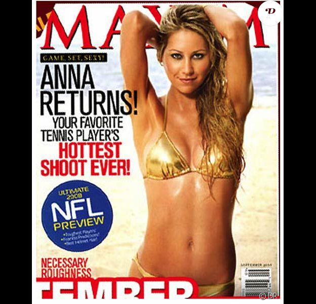 Anna Kournikova, à croquer pour Maxim...