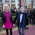 Emmanuelle Seigner (Meilleure Actrice) et son mari Roman Polanski (Meilleur Réalisateur) au déjeuner des nommés aux César au Fouquet's à Paris, le 8 février 2014.