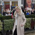 Marisa Borini (Bruni-Tedeschi) au déjeuner des nommés aux César au Fouquet's à Paris, le 8 février 2014.