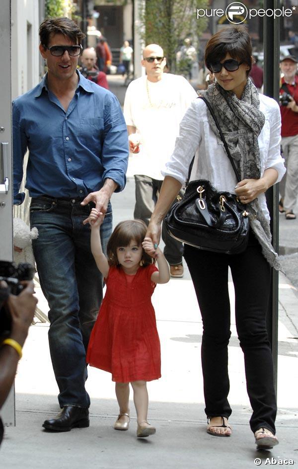 Tom, Katie et Suri, journée en famille à Manhattan