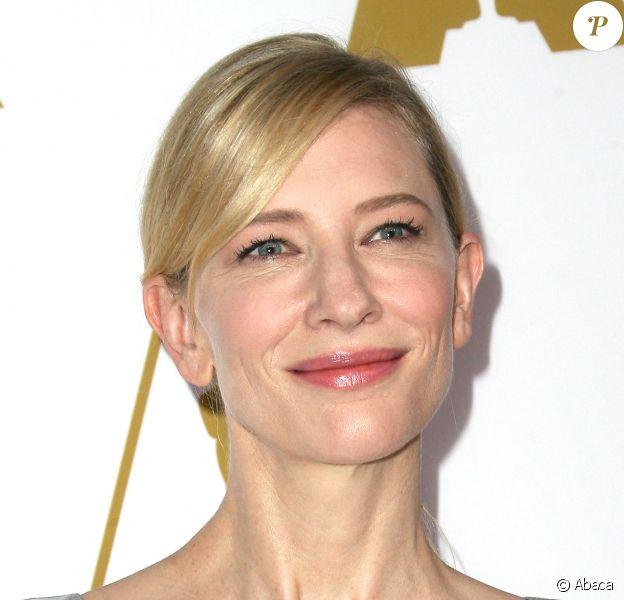 Cate Blanchett lors du déjeuner des nommés aux Oscars 2014, Beverly Hilton Hotel, Los Angeles, le 10 février 2014.