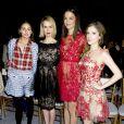 Olivia Palermo, Sarah Paulson, Katie Holmes, Anna Kendrick assistent au défilé Marchesa, le 12 février 2014 à New York dans le cadre de la Fashion Week