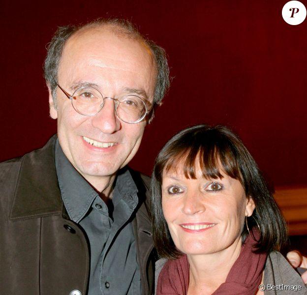 Exclusif - Philippe Geluck et sa femme Dany à Paris le 8 octobre 2006.