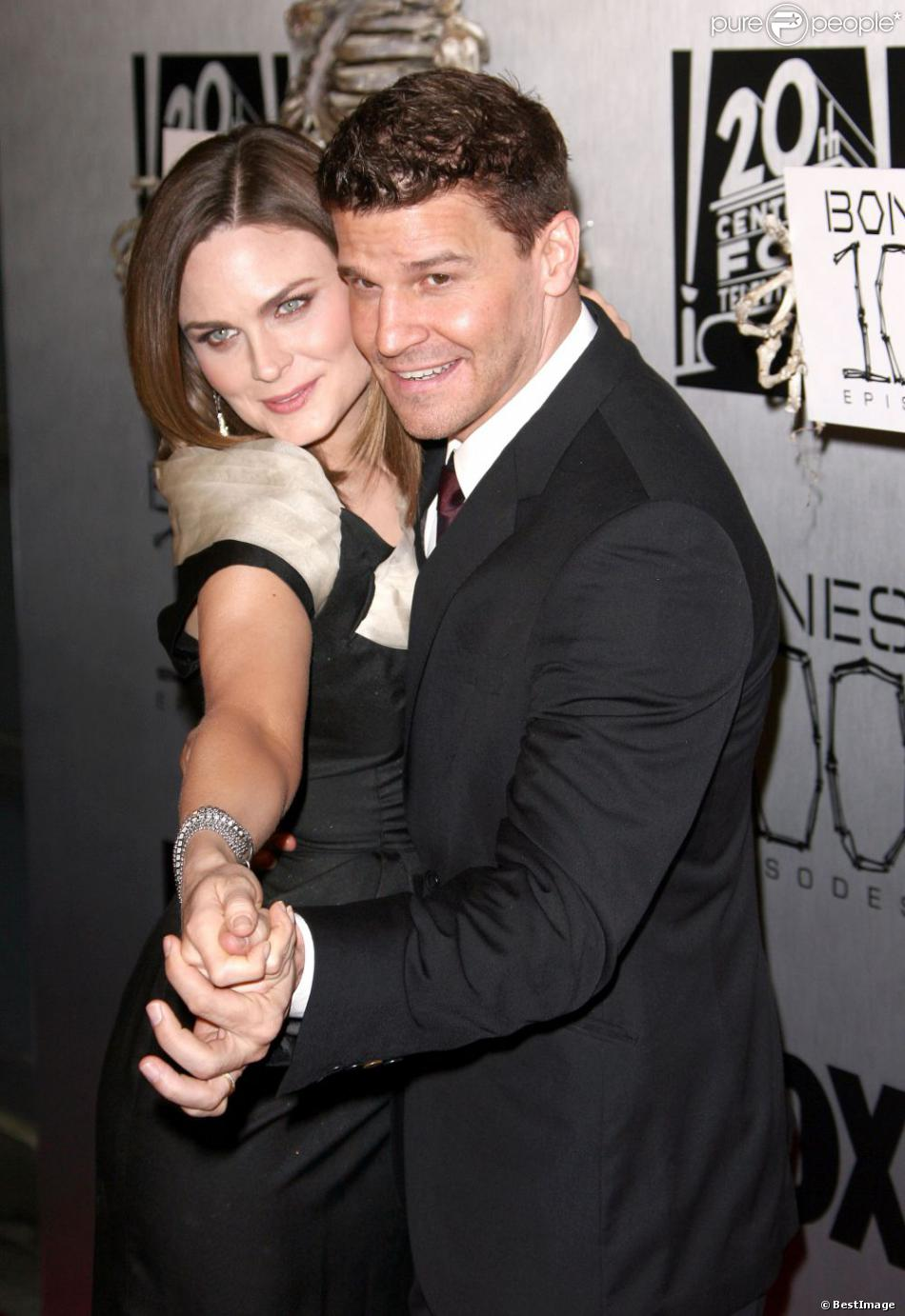 Emily Deschanel et David Boreanaz en avril 2010 à Hollywood