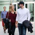 Emily Blunt, enceinte, et son mari John Krasinski à Los Angeles le 4 janvier 2014